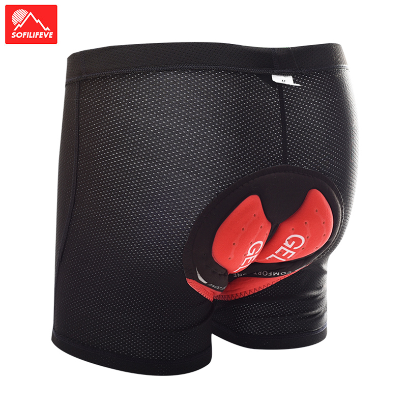 Lycra gel macio ciclismo calças dos homens à prova de choque brethable ciclismo roupa interior shorts mtb mountain bike calças bicicleta ciclismo shorts