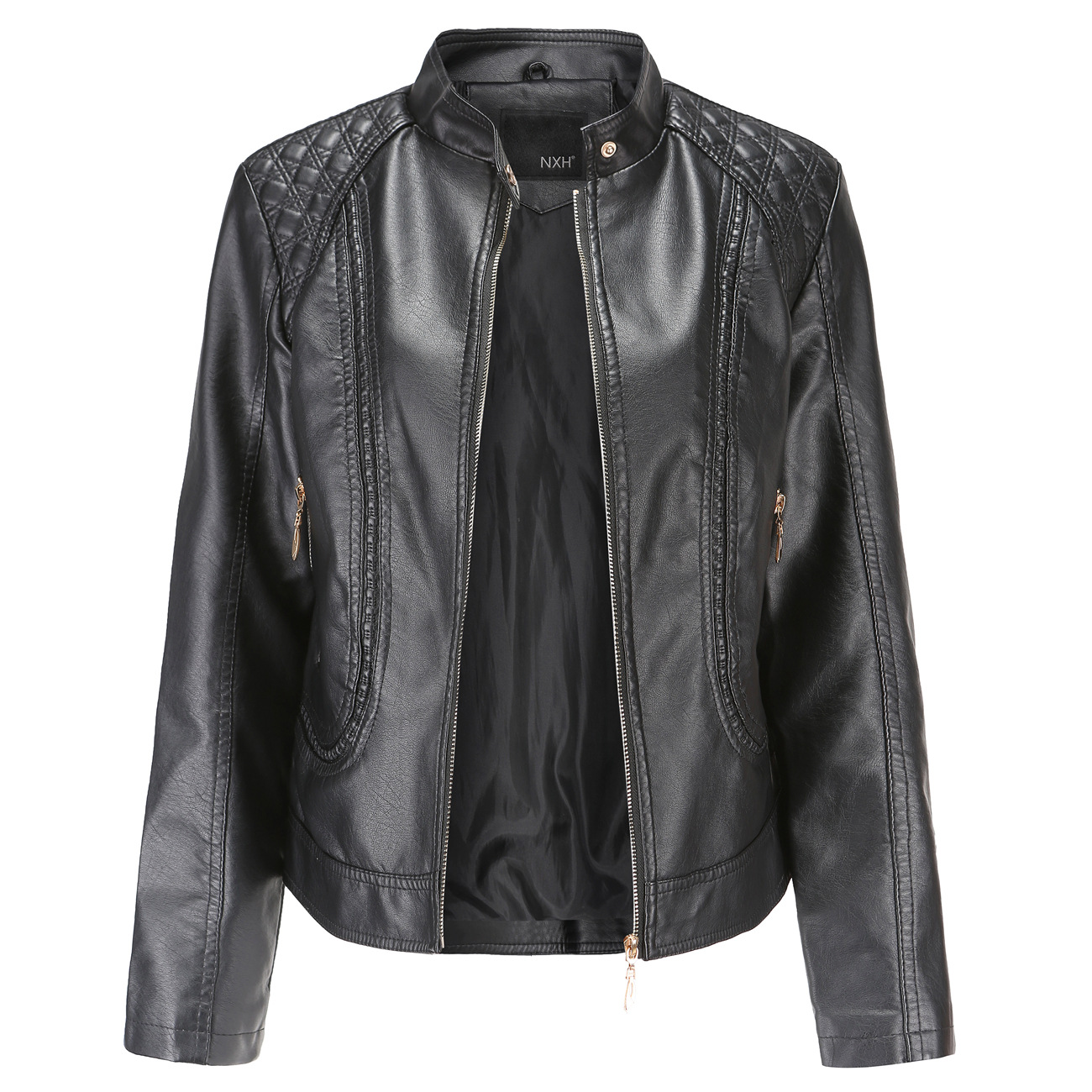 2019 Fashion New Women's Jacket European Fashion Leather Jacket Pimkie Cleaning Single PU Leather Motorcycle Temale Women's Leat(China)