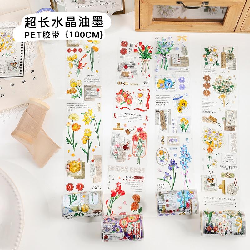 4PCS/LOT things between flowers series decorative tape PET tape