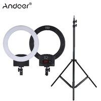 Andoer RL 560D Ring Light 12 LED Ring Lamp Bi color 3200K 5600K Photography Lighting Photo Studio Camera Light for DSLR Camera
