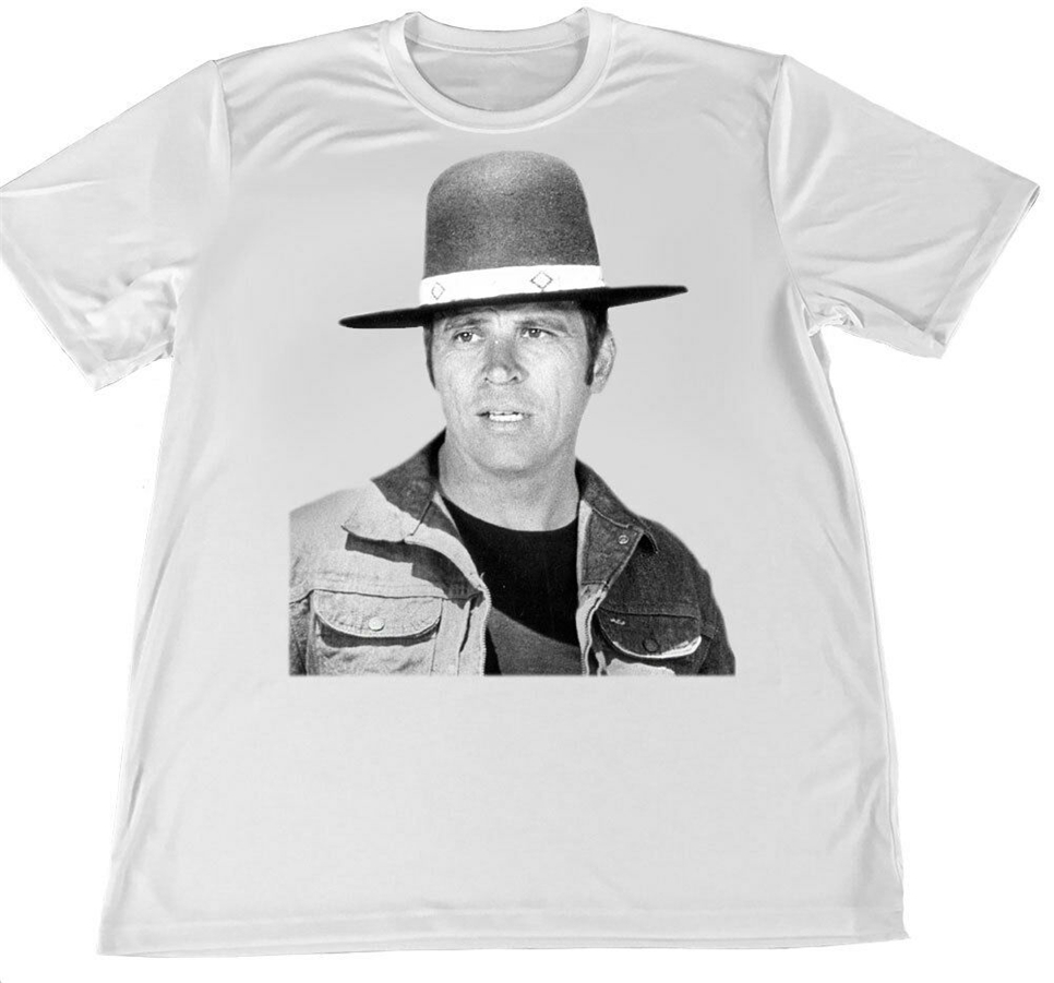 1970'S Karate Movie Billy Jack Dry Wicking Material T-Shirt W Flag Car Coaster Homme Plus Size Tee Shirt image