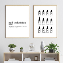Different Shapes Of Fingernails Canvas Painting Wall Art Quotes Poster Print Black And White Pictures Home Decor