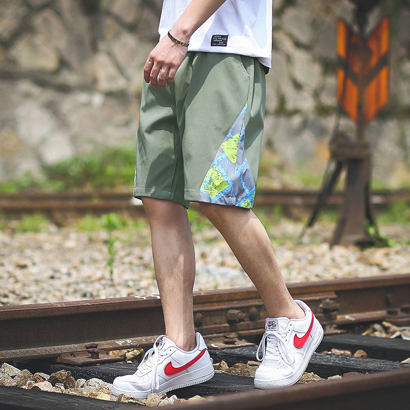 2019 Summer New Style Fashion Mixed Colors Loose And Plus-sized Versatile Men Beach Casual Pants Athletic Pants 813