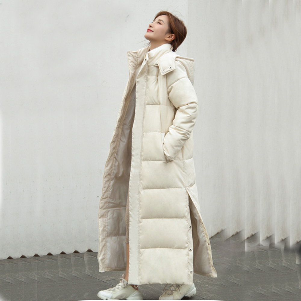 Thick down parka women with hood down jacket winterr coat cultivate morality fashion eiderdown hoodie with thick 805