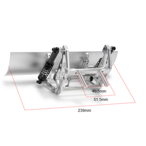 Image 5 - Cnc合金雪シャベルサーボ雪掃除ツール 1/10 rc TRX4 ためSCX10 90046 90047 90028 90027 rcフォークリフトアップグレード部分