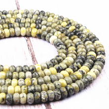 Yellow Pine Natural Agate Gem 4X6MM5X8MM Abacus Bead Spacer Bead Wheel Bead Accessory For Jewelry Making Diy Bracelet Necklace