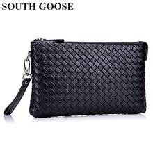 Clutch Wallets Sheepskin South-Goose Male Men Luxury 100%Genuine-Leather Bags Money-Bag