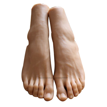 One piece of Silicone Life size Male Mannequin Foot Display Model for Art Practice Jewelry Sandal Shoe Sock Fetish fake foot model stockings mannequin rubber plastic art silicone female male tpe zishine 3600