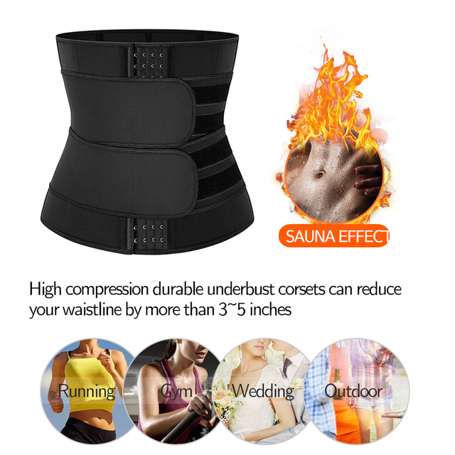 Neoprene Sauna Sweat Waist Trainer Corset with Steel Bones Women Weight Loss Trimmer Belt Slimming Body Shaper Fat Burning Fajas 5