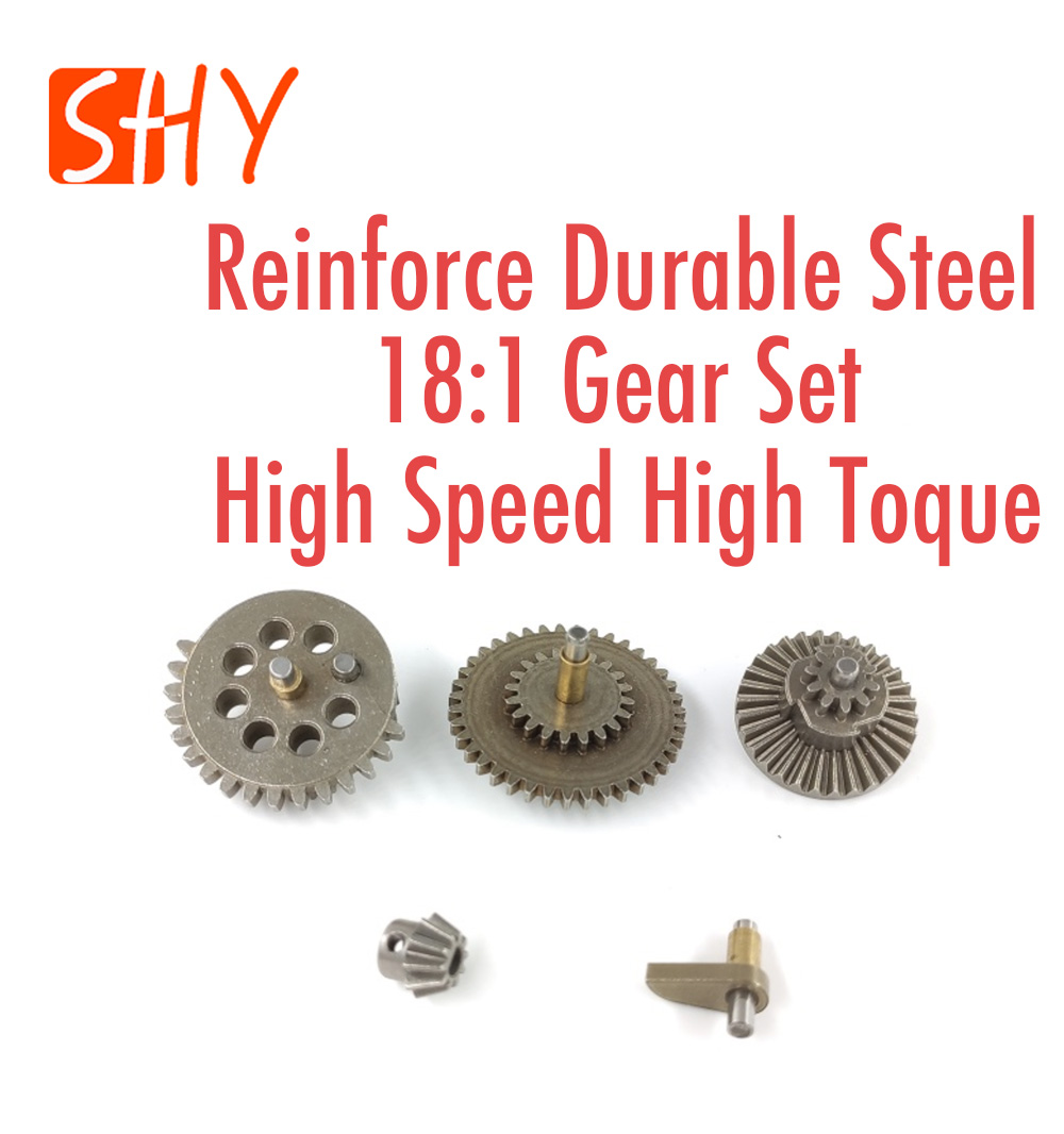 Ver.2 Ver.3 Gear Box Parts Reinforce Durable Steel 18:1 Gear Set High Speed High Toque For Water Gel Ball Blaster AEG Airsoft
