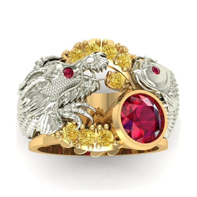Bague dragon or