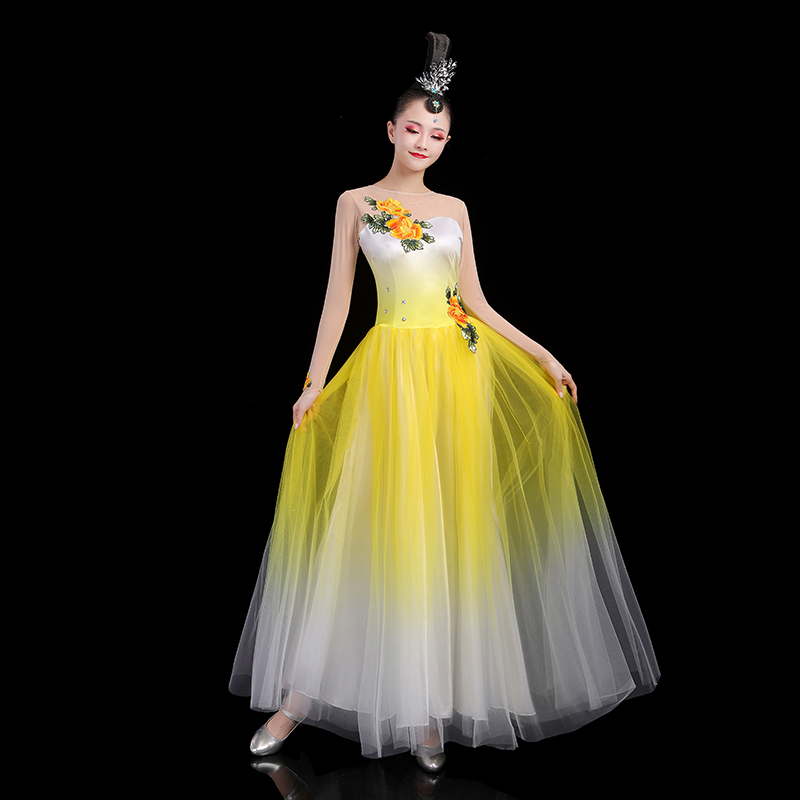 Flamenco Dress  Women Fairy Opening Dance Dress Extoic Dance Wears Ballroom Dance Clothes Stage Costume Evening Dresses