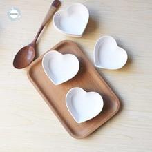 Homies 4 шт. симпатичное блюдо для соуса с сердцем маленький соусник форма тарелки в форме сердечек керамическая тарелка закуска маленькая тарелка салат обеденный поднос