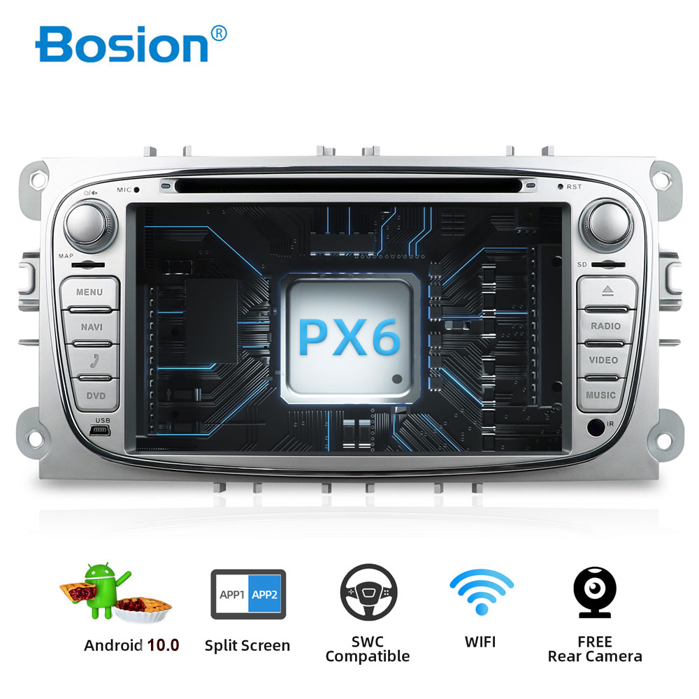 Bosion <font><b>2</b></font> <font><b>din</b></font> DSP Android 10 Car DVD Multimedia Player GPS Navi For Ford For Focus2 Mondeo Galaxy Wifi Audio Radio Stereo Head 4G image