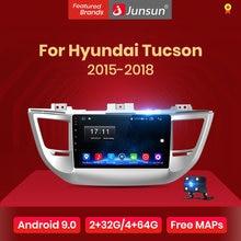 Junsun V1 Android 10 AI commande vocale 4G DSP CarPlay autoradio pour Hyundai IX35 Tucson 3 2015 2016-2018 Navigation GPS no 2 din
