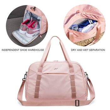 Pink Crossbody Shoulder Handbag Gym Sport Bag Men For Gym Women Fitness Bag Travel Training Bags Yoga Mat Bag Sac De Sport 3