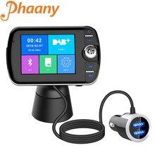 Phaany Phát FM Kỹ Thuật Số DAB Radio Bluetooth Xe Hơi Tay Nghe Âm Thanh AUX Đầu Thu Với DAB Anten Thu Màn Hình Hiển Thị Màu