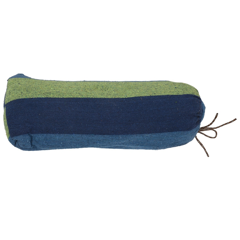 Double Hammock 450 Lbs Portable Travel Camping Hanging Hammock Swing Lazy Chair Canvas Hammocks(Blue)