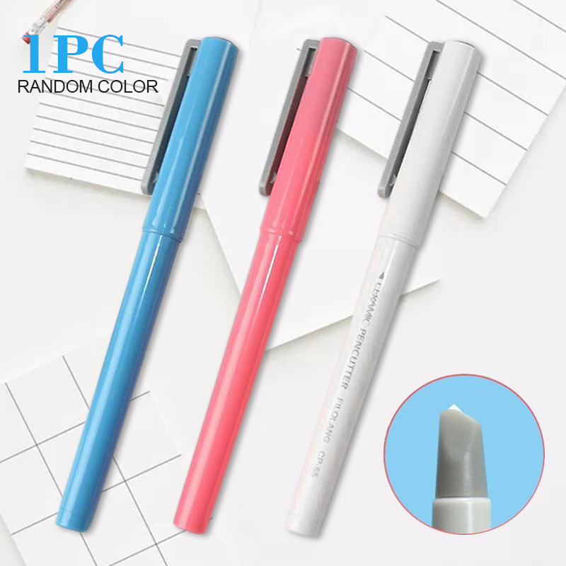 135mm Durable Mini Paper Pen DIY Hand-writing Newspaper Cutter Ceramic Blade Cutting Tool With Rust-resisting Tip Craft Knife