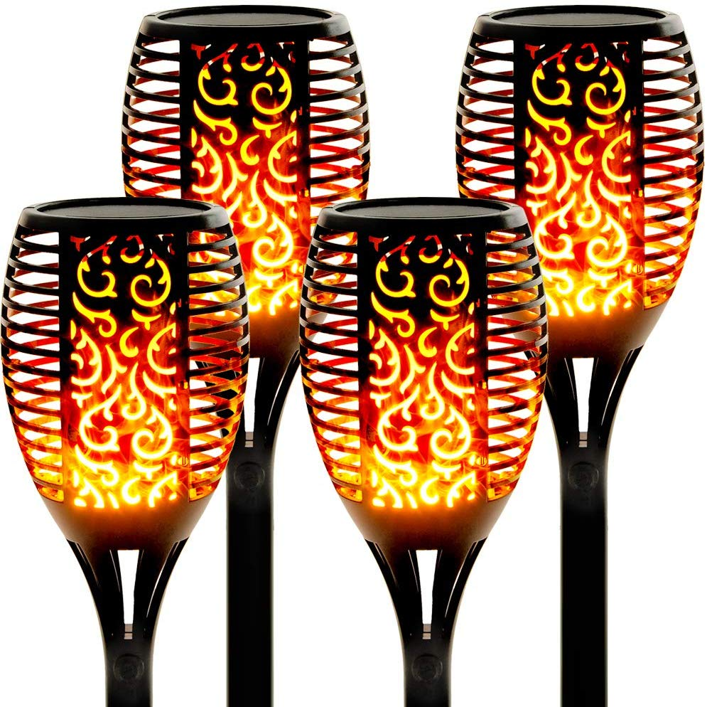 33 96 LED Solar Flame Outdoor Light Torch Safety IP65 Waterproof Flickering Garden Courtyard Decoration Automatic Landscape Lamp