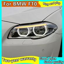 Car Styling Head Lamp for F10 F18 Headlights 2010-2016 520i 525i 530i All LED Headlight DRL Hid Bi Xenon Auto Accessories стоимость