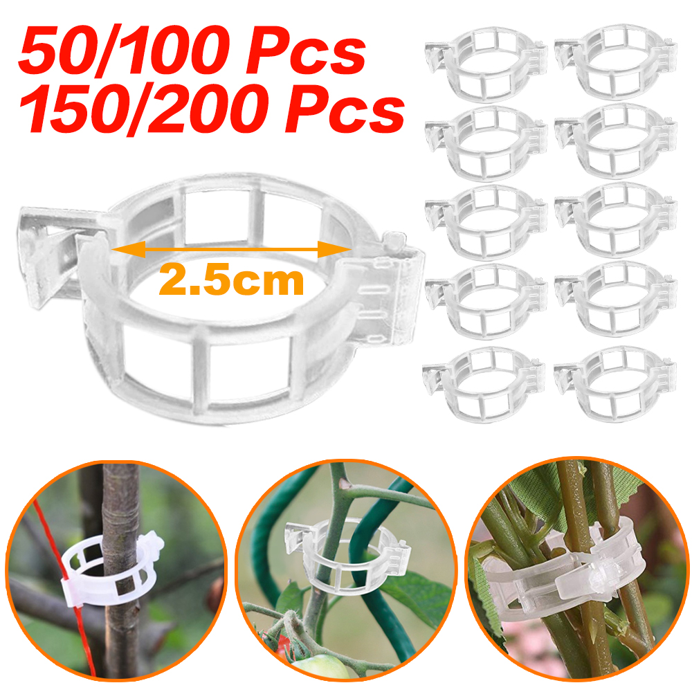 Garden Plant Supports Plastic Clips Ring Connects Vine Trellis Clips Fastener Protection Grafting Tied Fixture Vegetable Tomato