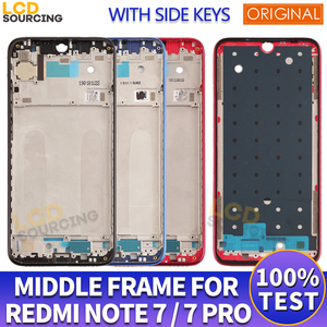 6.3 Original Middle Frame For Redmi Note 7 Front Frame Bezel Housing Cover For Redmi Note 7 Pro Middle Frame Replace + Side Keys