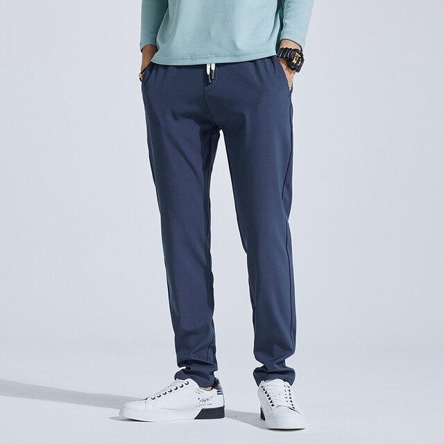 2020 Men Casual Sweatpants Fitness Men's Sportswear Joggers Pants Cotton New Male Blue Gray Gyms Trousers Pantalones Hombre 36