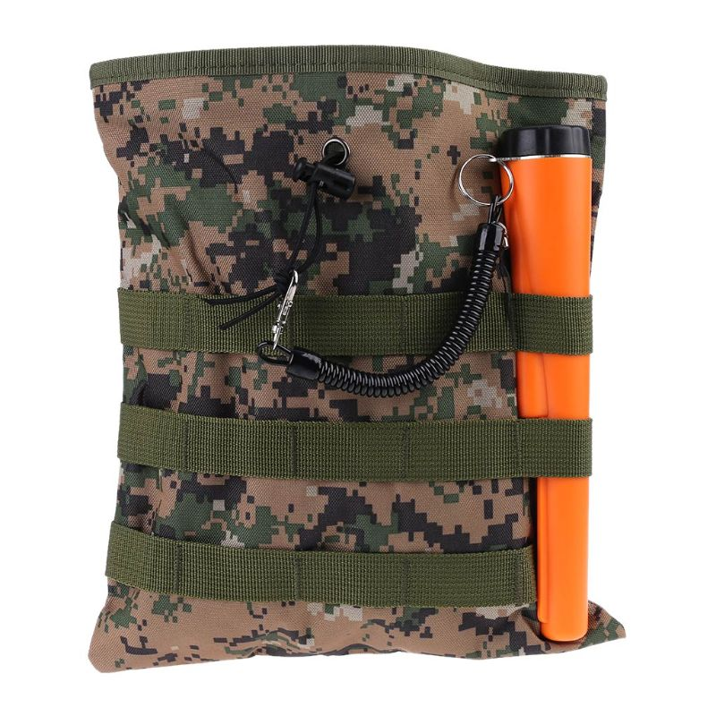 Camo Metal Detecting Finds Recovery Waist Bag Pouch Drawstring Belt Treasure Bag 831F