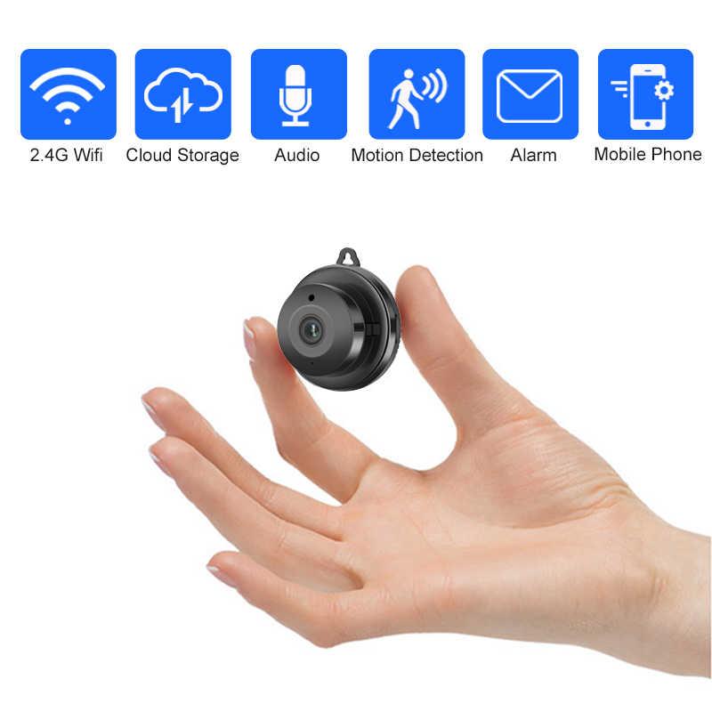 Wireless Mini WIFI 720P IP Kamera Cloud Lagerung Infrarot Nachtsicht Smart Home Sicherheit Baby Monitor Motion Erkennung SD karte