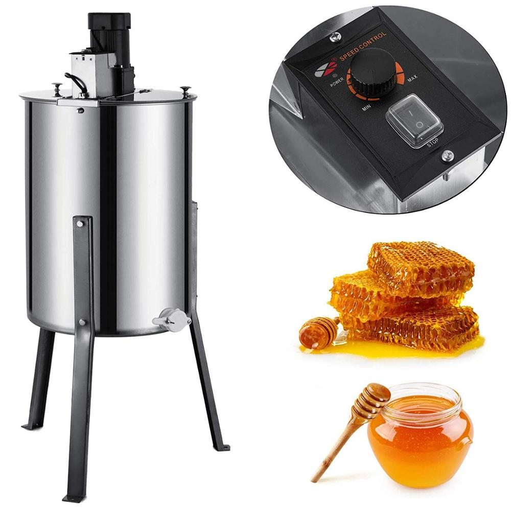 Honey-Extractor Beekeeping-Equipment Electric 4-Frame Stainless-Steel VEVOR with Stand title=