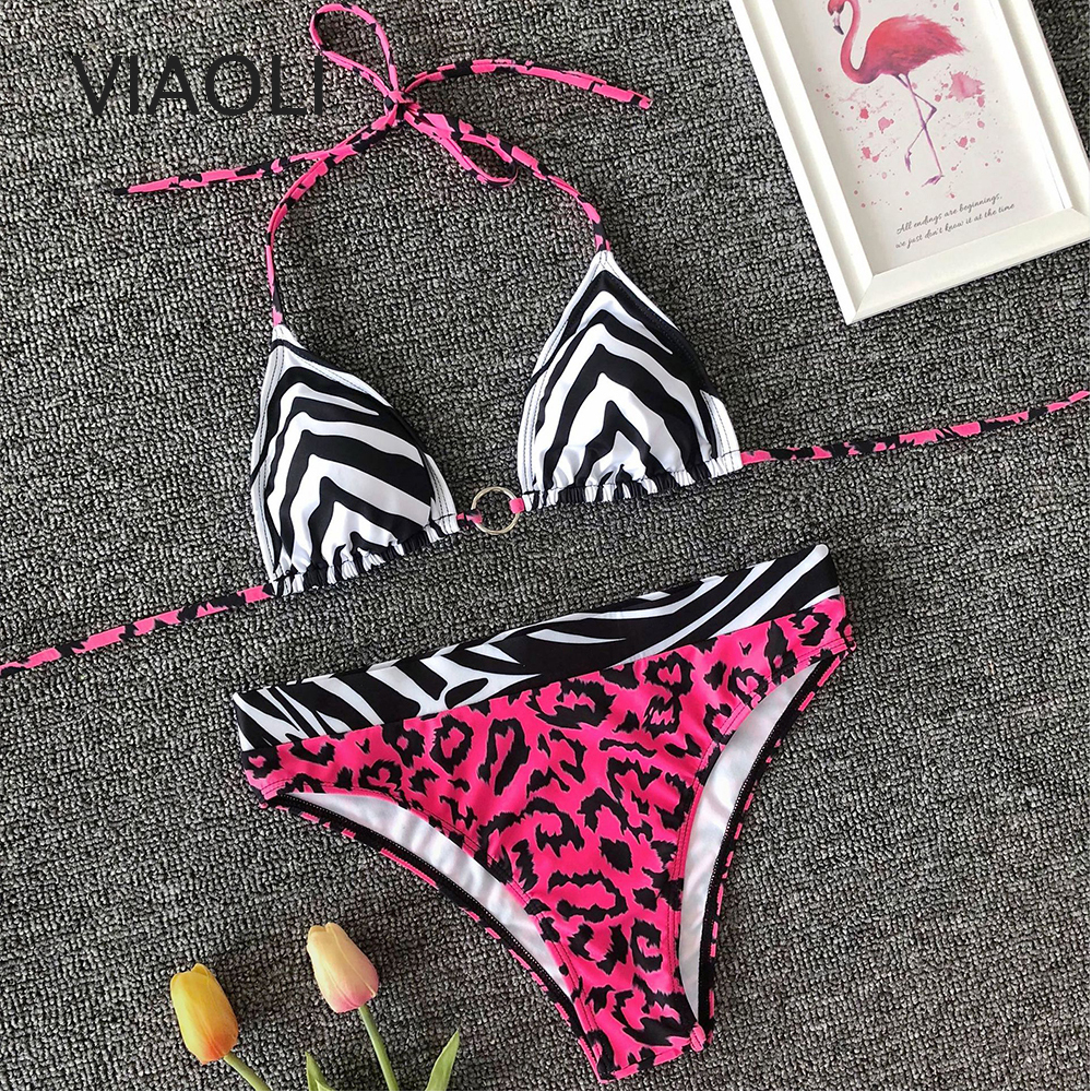 Sexy Bikini Set New Women Print Bathing Suit Swimwear Summer Beach Wear Female High Waist Red Swimsuit Biquini Swimming Suit