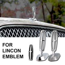 Etiqueta lateral do carro etiqueta de metal é adequado para lincoln mkc voyager mkz mkx navegador locomotiva cabeça capa padrão logotipo