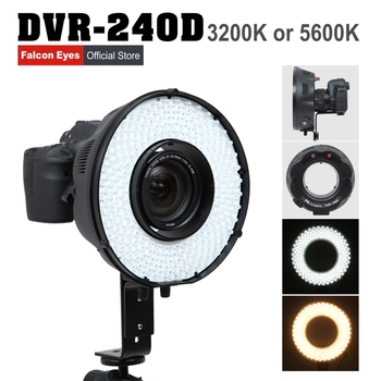 Falconeyes 14.8W LED Fotografia Ring Panel Light 5600K Continuous Lighting Studio/Youtube Video Live Lamp Free Shipping DVR-240D
