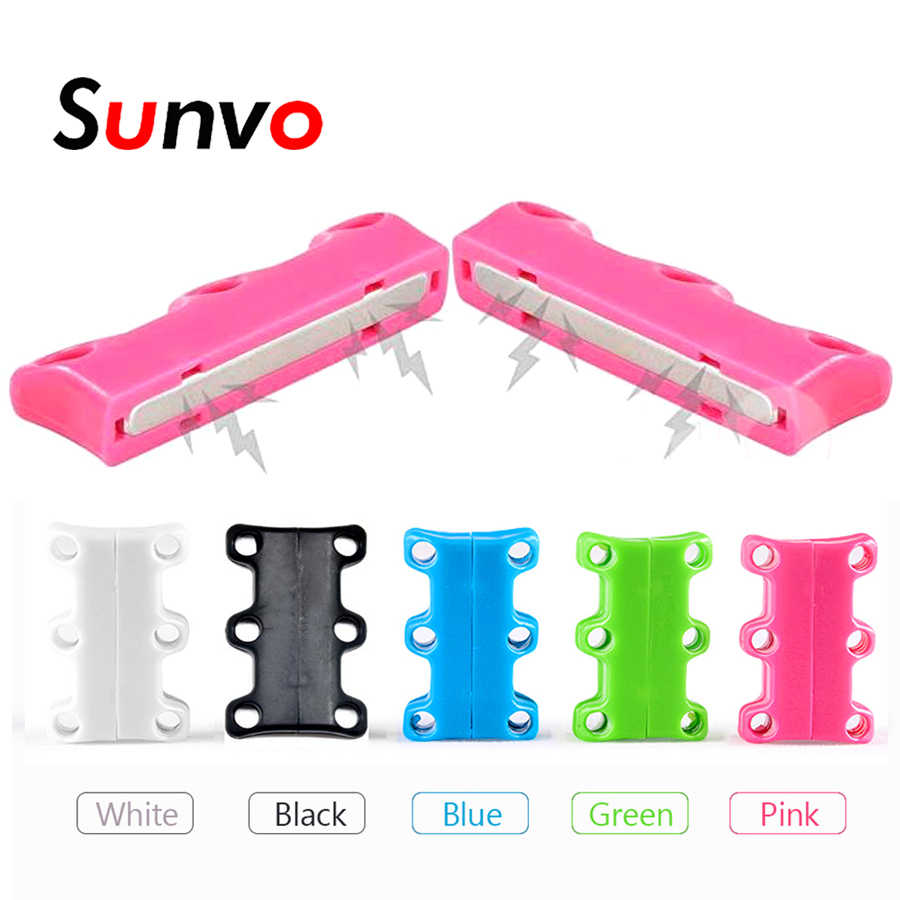 Sunvo Magnetic Shoe Laces Buckle Lazy Shoelaces Closures Chaussure Lace Strong Quick No to Tie Shoes Accessories for Men Women