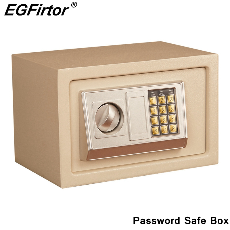 Digital Password Mini Safety Box Drop Cash Safe Box Jewelry Home Office Wall Type Security Alarm Box Anti-theft Safe Box