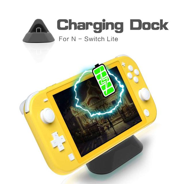 Mini Portable Charging Dock Stand for Nintendo Switch Lite