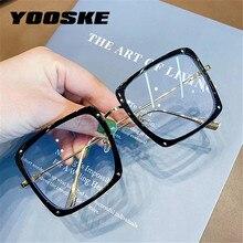 Glasses Frame Spectacles Eyewear Women Oversized Anti-Blue-Light Transparent Blocking