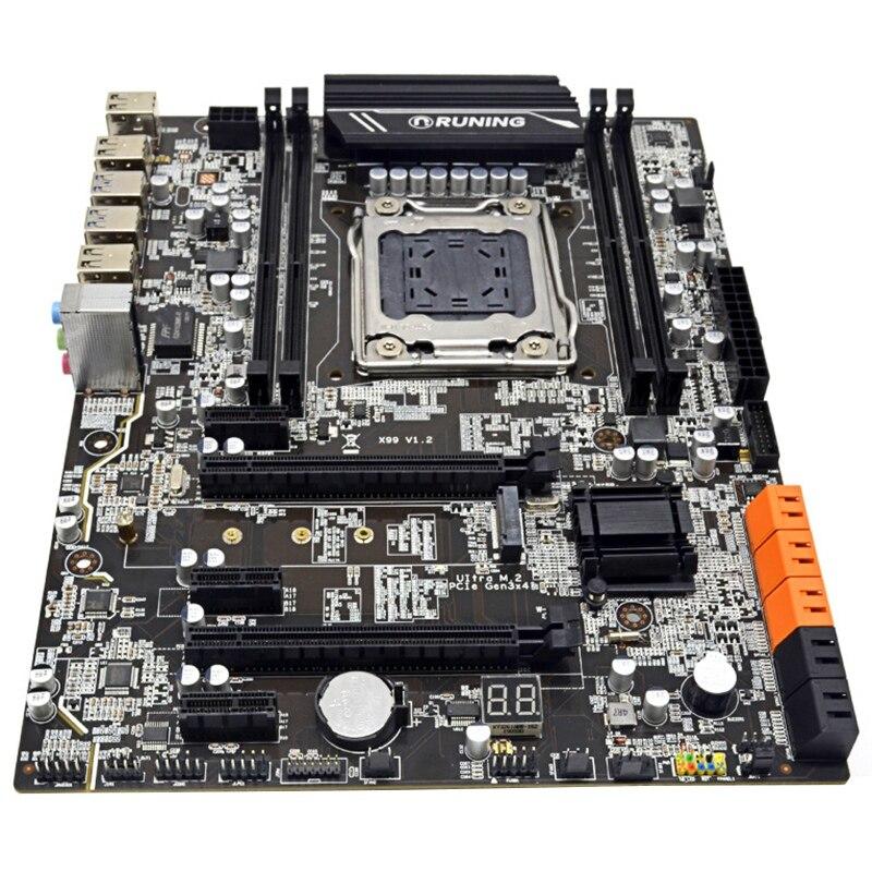New Desktop Motherboard X99 V1.2 DDR4 ATX LGA2011 Cpmputer Mainboard DImm Slots SATA 3.0 And USB 3.0