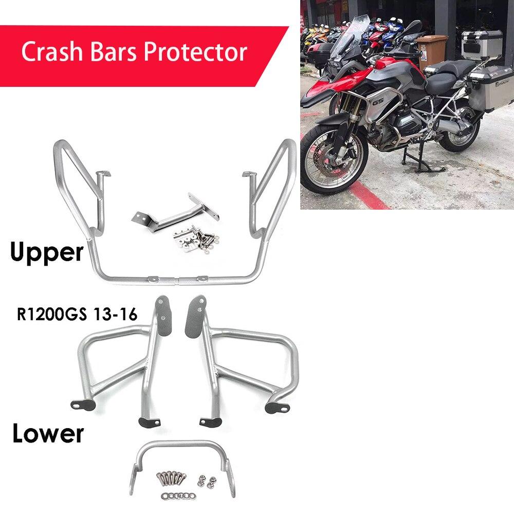 Moto moteur pare-chocs garde Crash Bars protecteur en acier pour BMW R1200GS GS 1200 LC 2013 2014-18 un ensemble de Protection de cadre
