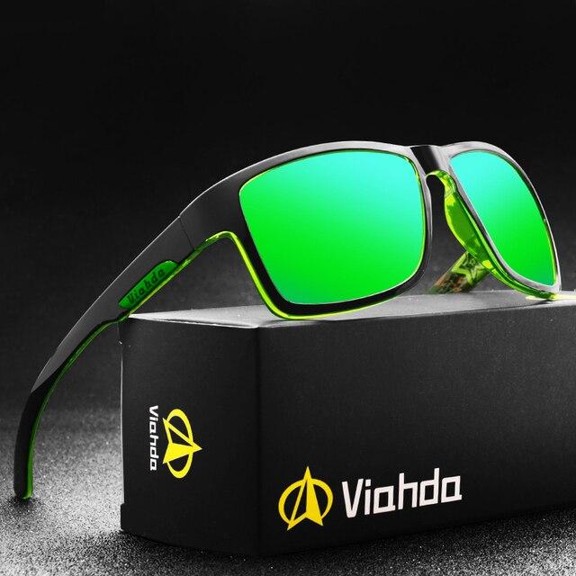 VIAHDA New Polarized Sunglasses Sport Outdor Men Brand Design Mirror Luxury  Sun Glasses For Women Fashion Driver Shades