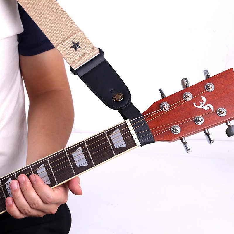 الغيتار الرقبة حزام الغيتار حزام الجلود رئيس حزام حامل زر قفل حماية القيثارة باس الشعبية الصوتية الغيتار الكهربائي الملحقات