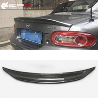 For MX5 NC NCEC Roster Miata EPA Type 3 2009 2015 Carbon Fiber Rear Trunk Spoiler Tail Boot Lip Wing Car Styling