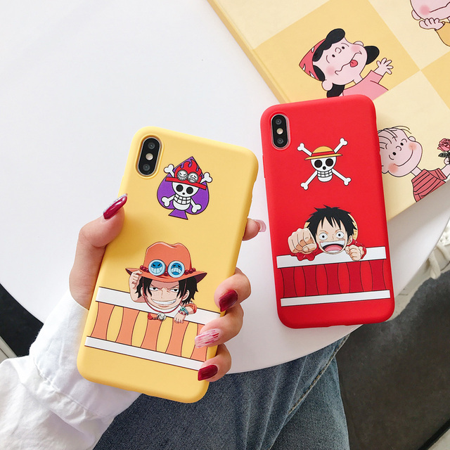 One Piece Japan Anime Luffy Tony Chopper ACE Candy tpu Case For Apple iPhone 7 8 6 6S Plus X XS Max Xr Soft Phone Cover coque