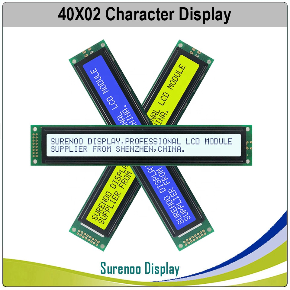 402 40X2 4002 Character LCD Module Display Screen LCM Yellow Green Blue With LED Backlight