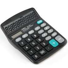 New pattern hot sale Dual power solar power AA battery calculator for Office work freeshipping
