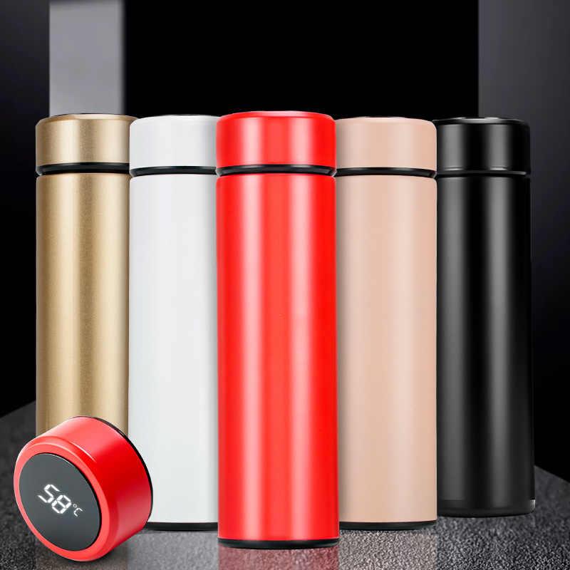 Display de Temperatura inteligente Isolar Garrafa Térmica de Aço Inoxidável Caneca De Chá Coador Xícara de Café Caneca Garrafa Térmica Garrafa de Vácuo