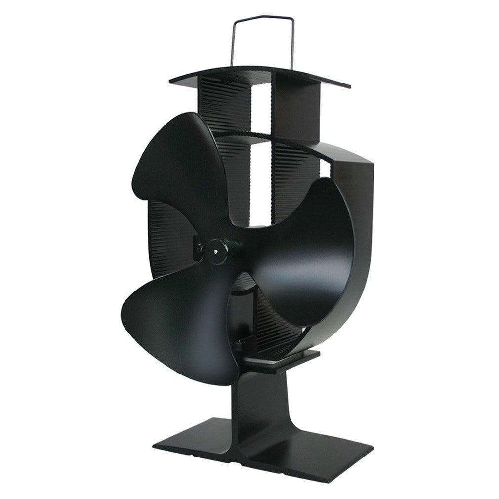 3 Blades Heat Powered Stove Fan Home Silent Heat Powered Stove Fan Ultra Quiet Wood Stove Fan Fireplace Fan
