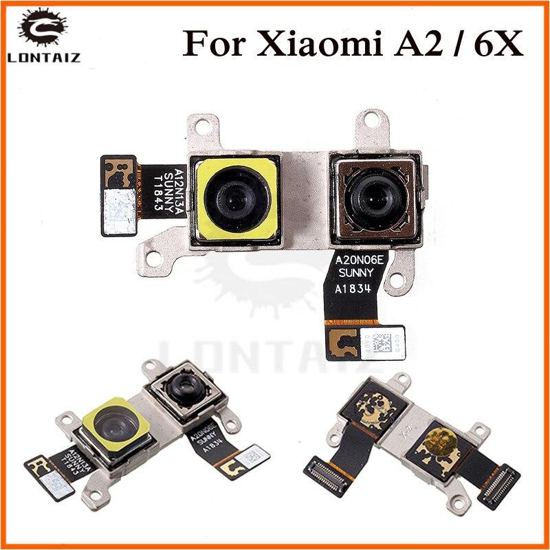 Back Rear Camera Flex Cable For Xiaomi Mi A2 MIA2 / Mi 6X MI6X M6X Front Camera Moudel Phone Repair Replacement Parts