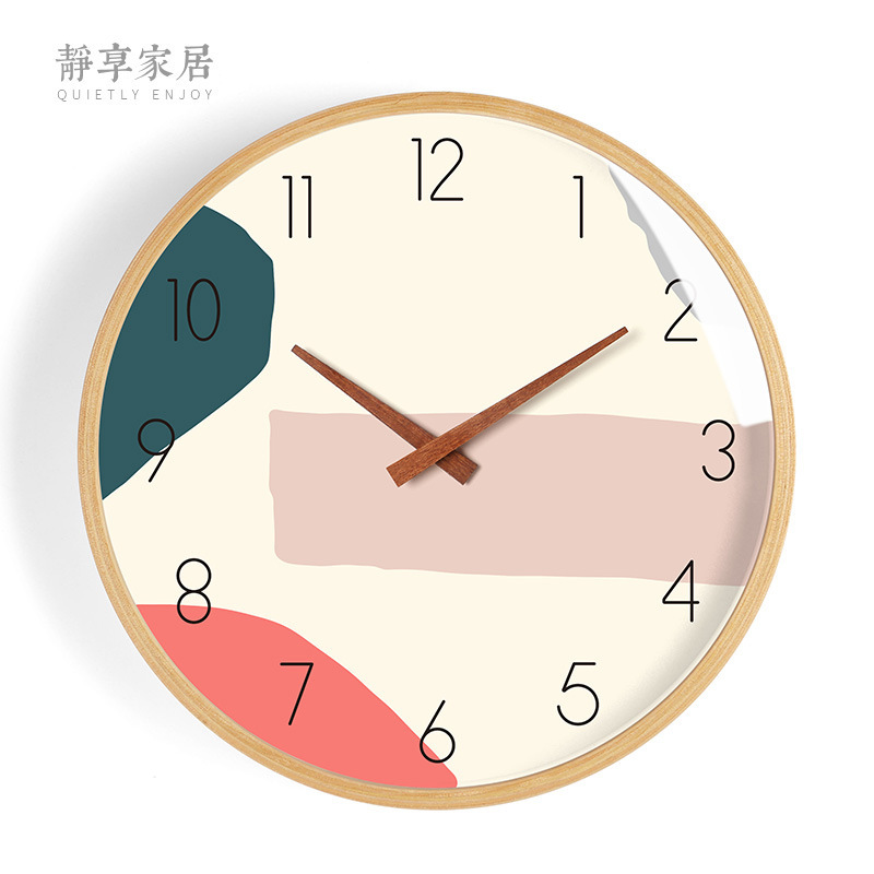 Nordic Creative Wall Clock Wood Modern Kitchen Wall Clocks Home Decor Glass Watch Silent Bedroom Bentwood Duvar Saati Gift FZ791